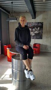 Birgit - Sportrebell in der Chillout-Area